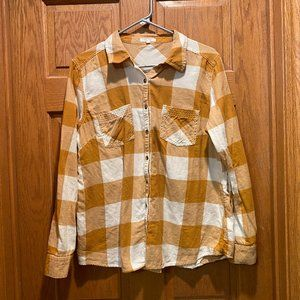 Maurices Plaid Flannel Shirt, L